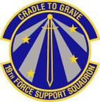 STICKER USAF 19th Force Support Squadron Emblem