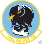STICKER USAF 194TH FIGHTER SQUADRON