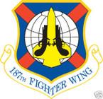STICKER USAF 187TH FIGHTER WING