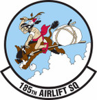 STICKER USAF 185th Airlift Squadron