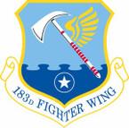 STICKER USAF 183th Fighter Wing