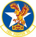 STICKER USAF 182nd Fighter Squadron