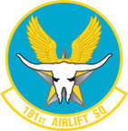 STICKER USAF 181st Airlift Squadron