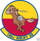 STICKER USAF 180TH AIRLIFT SQUADRON