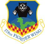 STICKER USAF 178TH FIGHTER WING