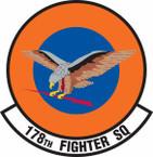 STICKER USAF 178th Fighter Squadron