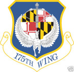 STICKER USAF 175TH WING