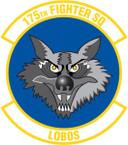STICKER USAF 175TH FIGHTER SQUADRON