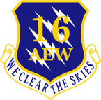 STICKER USAF 16TH AIR EXPEDITIONARY WING