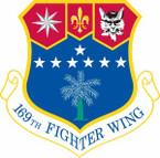 STICKER USAF 169th Fighter Wing