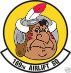 STICKER USAF 169TH AIRLIFT SQUADRON