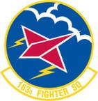 STICKER USAF 163rd FIGHTER SQUADRON