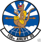 STICKER USAF 158TH AIRLIFT SQUADRON
