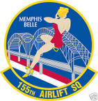 STICKER USAF 155TH AIRLIFT SQUADRON