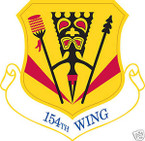 STICKER USAF 154TH WING