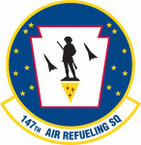 STICKER USAF 147th Air Refueling Squadron
