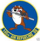 STICKER USAF 145TH AIR REFUELING SQUADRON