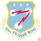 STICKER USAF 144TH FIGHTER WING