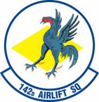 STICKER USAF 142nd Airlift Squadron