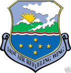STICKER USAF 141ST AIR REFUELING WING