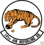 STICKER USAF 141ST AIR REFUELING SQUADRON