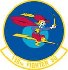 STICKER USAF 138TH FIGHTER SQUADRON