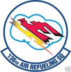 STICKER USAF 136TH AIR REFUELING SQUADRON