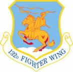 STICKER USAF 132nd Fighter Wing