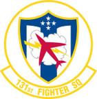 STICKER USAF 131st FIGHTER SQUADRON