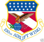 STICKER USAF 130TH AIRLIFT WING
