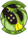 STICKER USAF 12th Airborne Cmd n Ctl Squad
