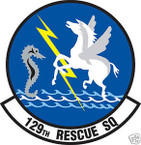 STICKER USAF 129TH RESCUE SQUADRON
