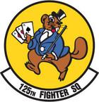 STICKER USAF 125TH FIGHTER SQUADRON