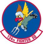 STICKER USAF 124TH FIGHTER SQUADRON