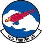 STICKER USAF 123rd FIGHTER SQUADRON