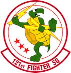 STICKER USAF 121ST FIGHTER SQUADRON