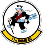 STICKER USAF 11TH BOMB SQUADRON