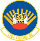 STICKER USAF 119TH FIGHTER SQUADRON