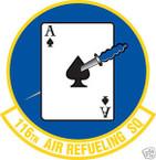 STICKER USAF 116TH AIR REFUELING SQUADRON