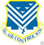 STICKER USAF 116TH AIR CONTROL WING