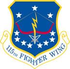 STICKER USAF 115TH FIGHTER WING