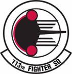 STICKER USAF 113th Fighter Squadron