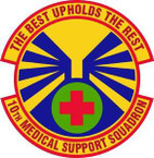 STICKER USAF 10th Medical Support Squadron
