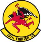 STICKER USAF 107TH FIGHTER SQUADRON