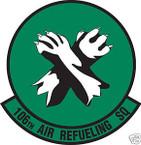 STICKER USAF 106TH AIR REFUELING SQUADRON