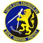 STICKER USAF 100TH CIVIL ENGINEER SQ