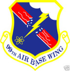 STICKER USAF  99TH AIR BASE WING