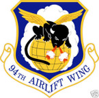 STICKER USAF  94TH AIRLIFT WING