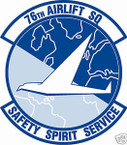 STICKER USAF  76TH AIRLIFT SQUADRON