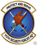STICKER USAF  75TH SECURITY FORCES SQUADRON